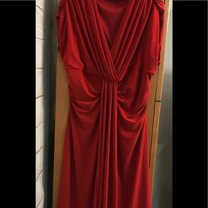 Jones Wear Misses Size 16 Red Ruched Dress